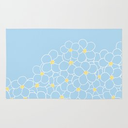 Forget Me Knot Blue Boarder Rug
