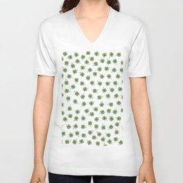 Light Green Clover Unisex V-Neck
