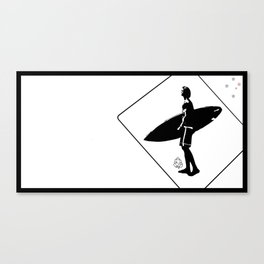Swami's Surfer Crossing Canvas Print
