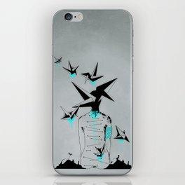 Origami's dream - A collaboration between Christelle Guilhen and Gwenola de Muralt - iPhone Skin