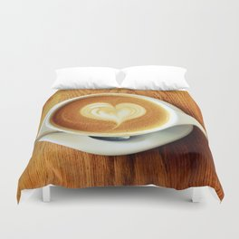A Warm Cup of Love Duvet Cover