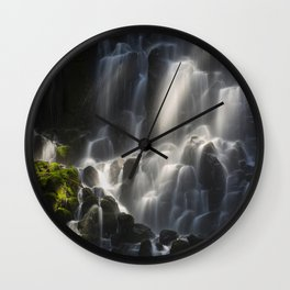 Ramona Falls in the Forest Wall Clock