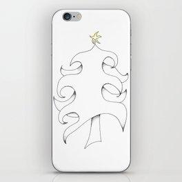 Pointillist Pine iPhone Skin