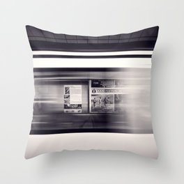 metro long exposure Throw Pillow