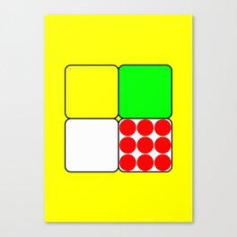 Tour de France Jerseys 3 Yellow Canvas Print