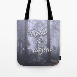 Explore the unseen mystic misty woods adventure Tote Bag