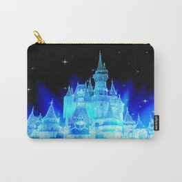 Blue Ice Frozen Enchanted Castle Carry-All Pouch