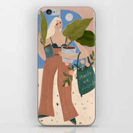 Plants are friends iPhone Skin