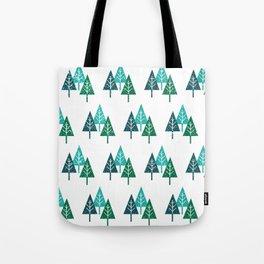 Three Christmas Trees Tote Bag