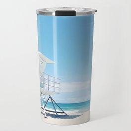 Lifeguard tower Carlsbad 35 Travel Mug