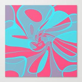 Blue Squabble Canvas Print