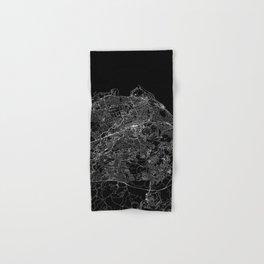 Edinburgh Black Map Hand & Bath Towel