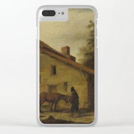 An Inn in the Neighborhood of Nantes, Lambert Doomer, 1640 - 1660 Clear iPhone Case