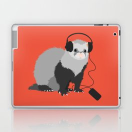 Music Loving Ferret Laptop & iPad Skin