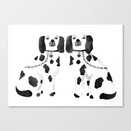 Staffordshire Dogs (Black) Canvas Print