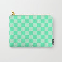 Mint Green Check Carry-All Pouch