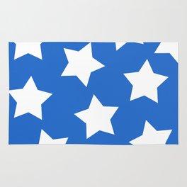 Cheerful Blue Star Print Rug
