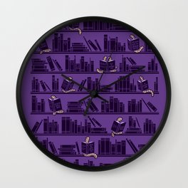 Bookworms Wall Clock