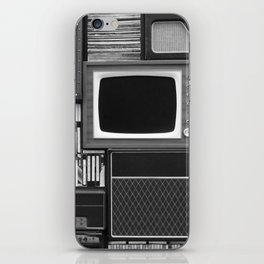 Everything Retro (Black and White) iPhone Skin