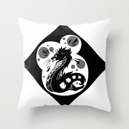 African Civet (Civettictis civetta) Throw Pillow