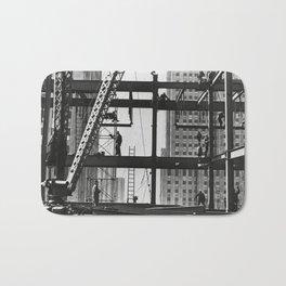 Steel workers New York City Bath Mat