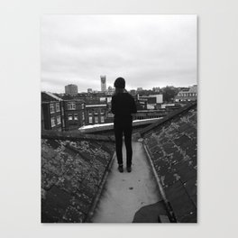 Standing on Top of London Canvas Print