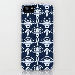 Blue art Deco . iPhone Case