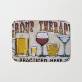 Group therapy practiced here Bath Mat