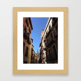 Narrow Streets Framed Art Print