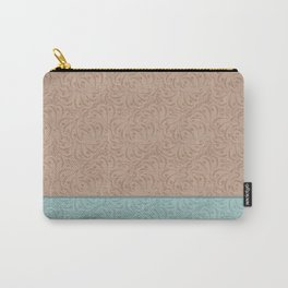 Combo beige turquoise abstract pattern . Carry-All Pouch