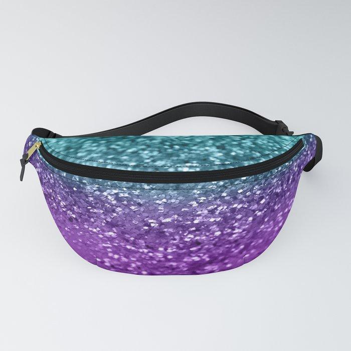 Purple Teal MERMAID Girls Glitter #1 #shiny #decor #art #society6 Fanny Pack