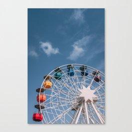 Colourful Ferry Wheel Canvas Print