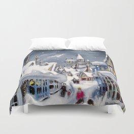 Snowy Hogsmeade Duvet Cover