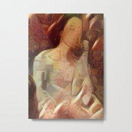 Woman in negligee Metal Print