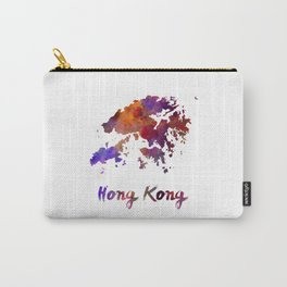 Hong Kong in watercolor Carry-All Pouch
