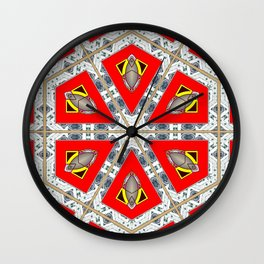The Red Hexagon Wall Clock