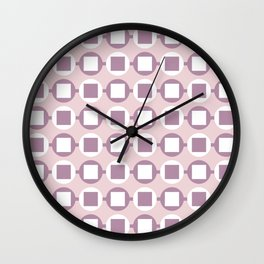Candy Sweets Pink Champagne Pattern Wall Clock