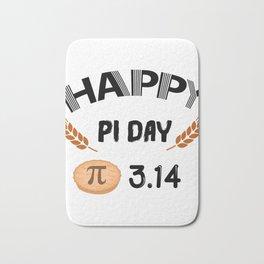 Happy Pi Day Funny Math Symbol Humor Bath Mat