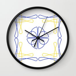 Azulejo Luso Wall Clock