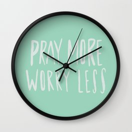 Pray More x Mint Wall Clock