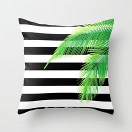 Simply Tropical Stripes Throw Pillow