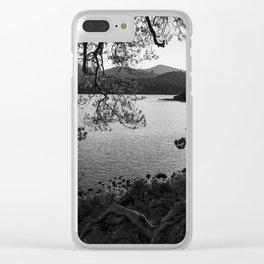 derwentwater through the trees from friars crag Clear iPhone Case