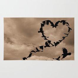 Heart of Crows (Birds) A276 Rug