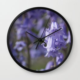 The Bluebell Patch Wall Clock