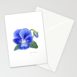 Purple Pansy by Teresa Thompson Stationery Cards