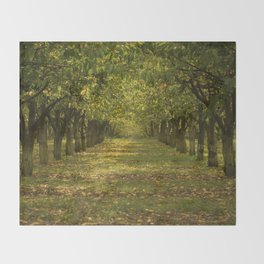 Hazelnuts in Oregon Throw Blanket