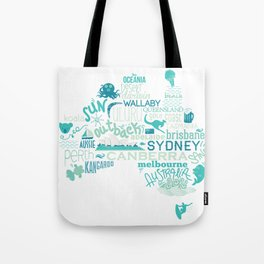 Australia Illustration Tote Bag