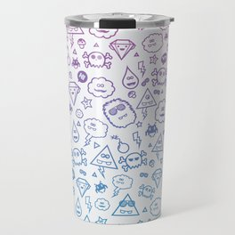 Cute & Sweet Monsters / Funny Clouds and Diamonds Travel Mug
