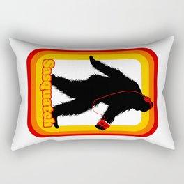 Retro Sasquatch Rectangular Pillow