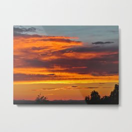 Early August Sunset (2) Metal Print